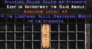 Sorceress Lightning Skills w/ 6 Strength GC