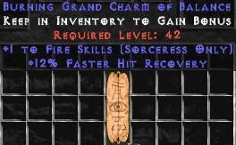 Sorceress Fire Skills w/ 12% FHR GC