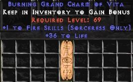 Sorceress Fire Skills w/ 36-39 Life GC