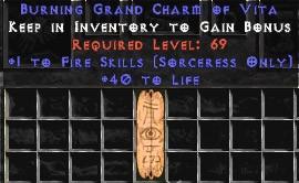 Sorceress Fire Skills w/ 40 Life GC