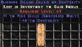 Sorceress Fire Skills w/ 3-5 Dex GC