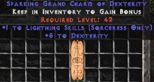 Sorceress Lightning Skills w/ 3-5 Dex GC