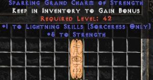 Sorceress Lightning Skills w/ 3-5 Str GC