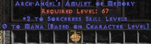 Sorceress Amulet - 2 All Sorc Skills & 0.75 MPL