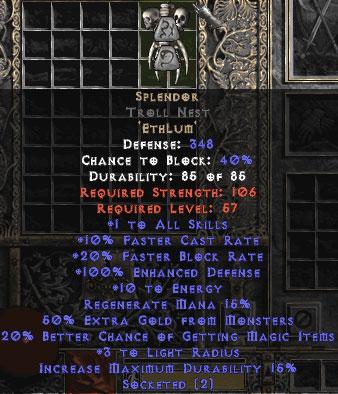 Splendor Troll Nest - 100-114% ED