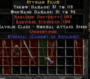 10x Unid Rare Stygian Pilum Ethereal