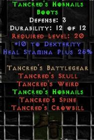 Tancred's Hobnails