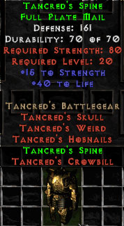 Tancred's Spine - 161 Def - Perfect