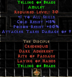 Telling of Beads - +50% Poison Res, 10 ATD - Perfect