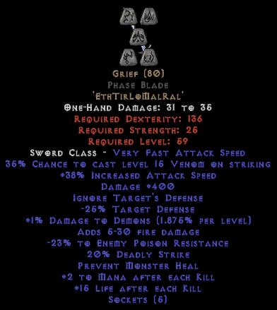 Grief Phase Blade - 35-39% IAS & 400 Damage