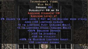 Thundergod's Vigor -