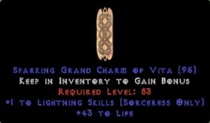Sorceress Lightning Skills w/ 41-44 Life GC