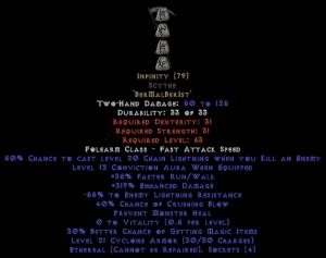Infinity Scythe - Ethereal - 295-324% ED & -55% ELR