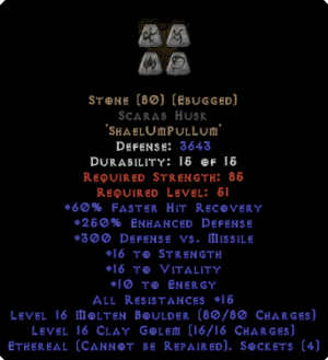 Stone Scarab Husk - Eth Bugged - 250-269% ED