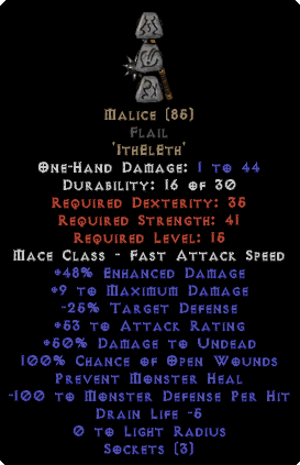 Malice Flail - 15/3 - Perfect