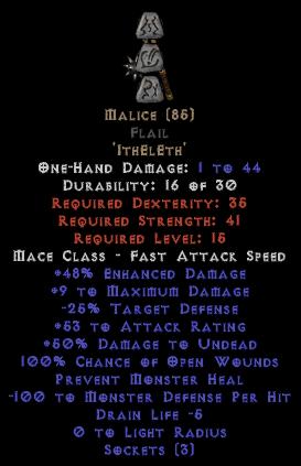 Malice Flail - 15% ED Base