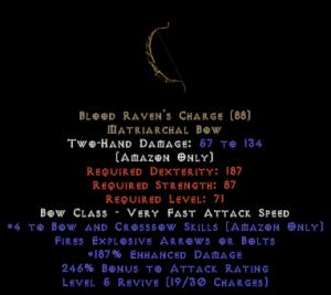 Blood Raven's Charge +4 skills