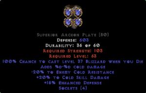 =+20/-20 Cold Facet Die Archon Plate