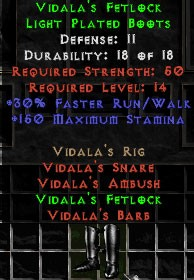 Vidala's Fetlock - 11 Def - Perfect