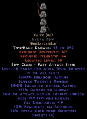 Faith Hydra Bow - 1 Skills & 12-14 Fanat