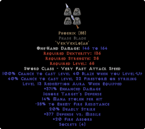 Phoenix Phase Blade - 350-379% ED