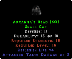 Arcanna's Head - 11 Def - Perfect