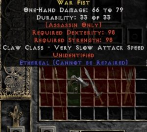 10x Unid Rare War Fist Ethereal