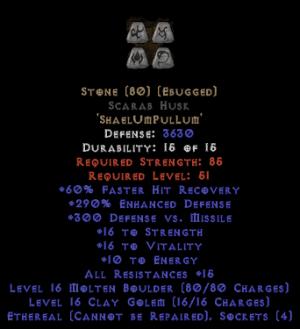 Stone Scarab Husk - Eth Bugged - 290% ED - Perfect