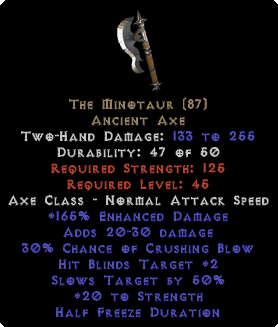The Minotaur - 20 Str