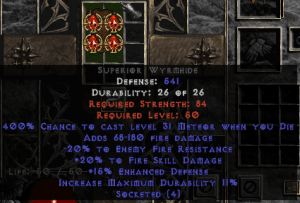 =+20/-20 Fire Facet Die Wyrmhide