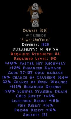 Duress Wyrmhide - 150-184% EDef