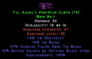 Tal Rasha's Fine-Spun Cloth - 35-39 Def, 15% MF
