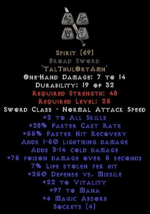 Spirit Broad Sword - 25-29% FCR