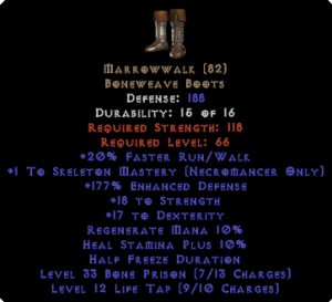 Marrowwalk +1 Skeleton Mastery