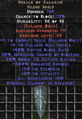 Herald of Zakarum - Ethereal - 150-179% ED