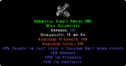 Immortal King's Forge - 118 Def - Perfect