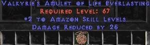 Amazon Amulet - 2 All Zon Skills & 25 PDR
