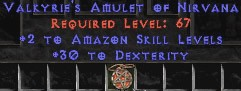 Amazon Amulet - 2 All Zon Skills & 30 Dex