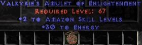 Amazon Amulet - 2 All Zon Skills & 30 Energy