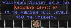 Amazon Amulet - 2 All Zon Skills & 30 Str