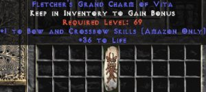 Amazon Bow & Crossbow Skills w/ 36-39 Life GC