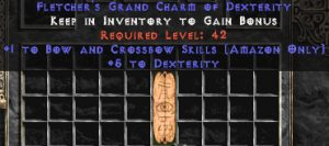 Amazon Bow & Crossbow Skills w/ 3-5 Dex GC