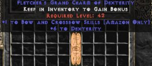 Amazon Bow & Crossbow Skills w/ 6 Dex GC