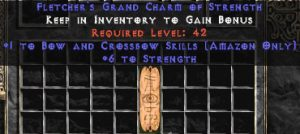 Amazon Bow & Crossbow Skills w/ 6 Strength GC