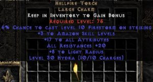 Amazon Hellfire 20 Resist All/17-19 Stats
