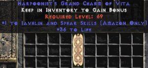 Amazon Javelin & Spear Skills w/ 36-39 Life GC