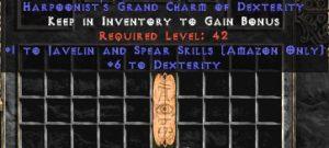 Amazon Javelin & Spear Skills w/ 6 Dex GC