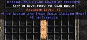 Amazon Javelin & Spear Skills w/ 6 Strength GC