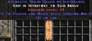 Amazon Passive & Magic Skills w/ 21-29 Life GC
