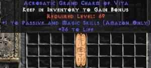 Amazon Passive & Magic Skills w/ 36-39 Life GC
